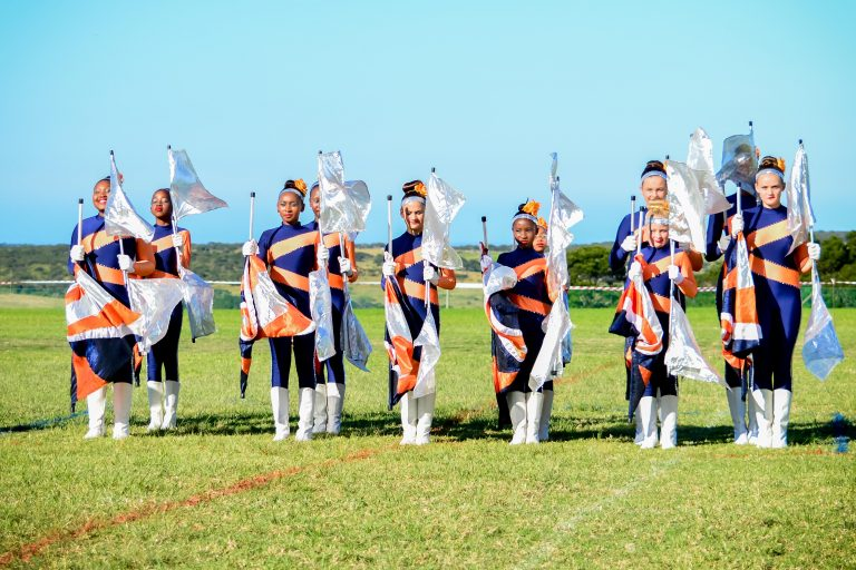 Lilyfontein School Junior Majorettes getting ready to do their Flag Drill, Photo by - Brandon Reynolds
